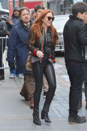 Lindsay Lohan at ABC Studios in New York 2/13/ 2017