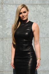 Lindsey Vonn at Milan Fashion Week - Giorgio Armani Show 2/27/ 2017