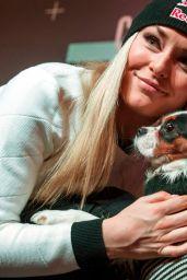 Lindsey Vonn - Eurosport Press Conference Regarding TV Series