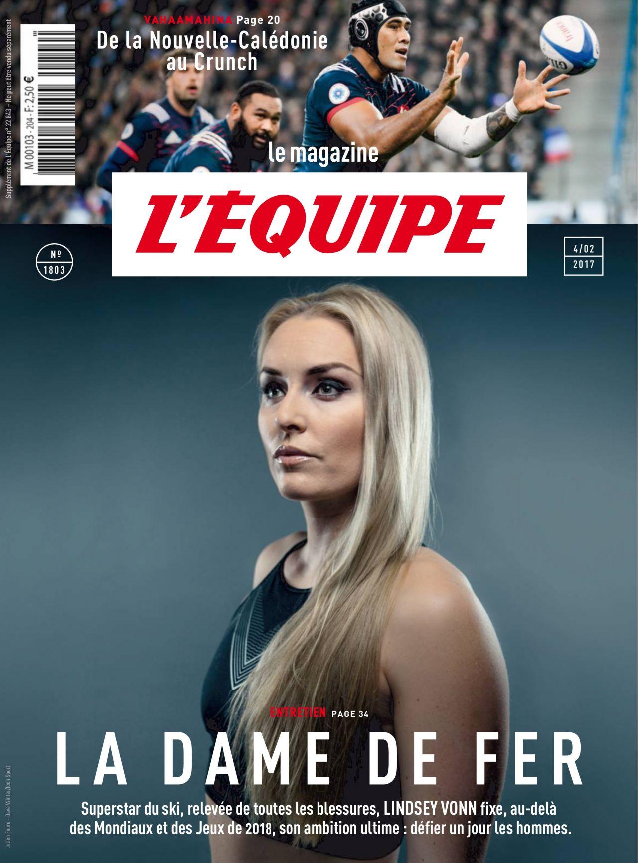 Lindsey Vonn L Equipe Magazine February 2017 Issue