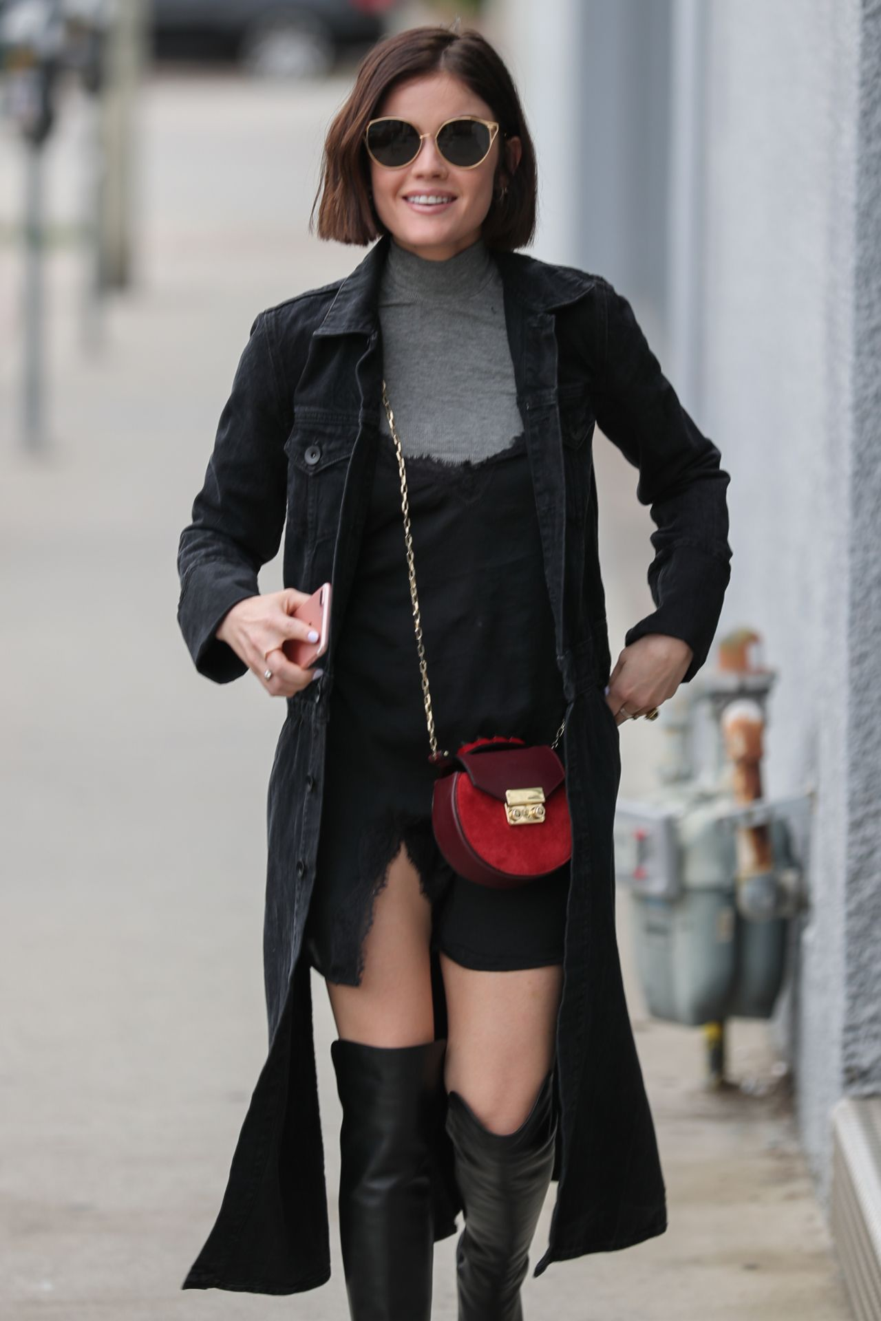Lucy Hale Showcasing Her New Bob Haircut West Hollywood 221 2017