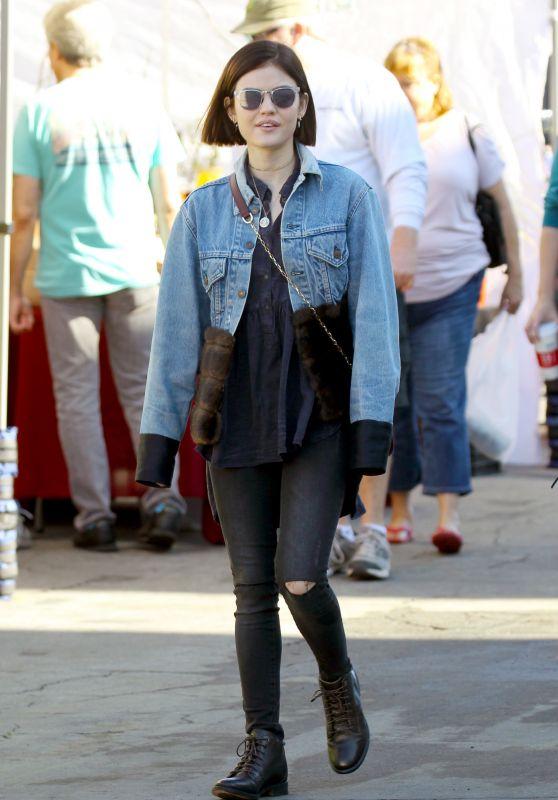 Lucy Hale Street Style - Flea Market in LA 2/19/ 2017