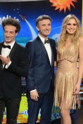 Ludovica Frasca & Irene Cioni - Striscia La Notizia TV Show in Milan, Italy 2/6/ 2017