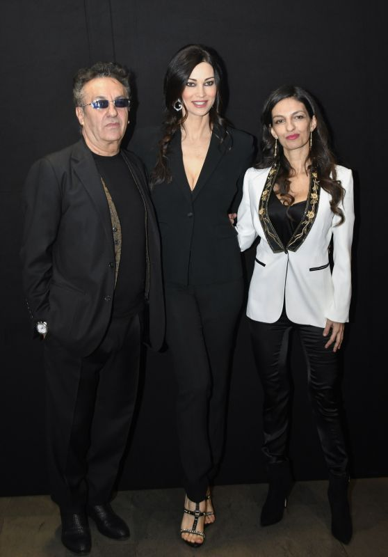 Manuela Arcuri at Milan Fashion Week - Moschillo show 2/26/ 2017
