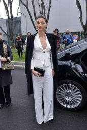 Margareth Madè at Emporio Armani Show at Milan Fashion Week 2/24/ 2017