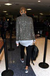 Maria Sharapova at LAX Airport in Los Angeles 2/8/ 2017