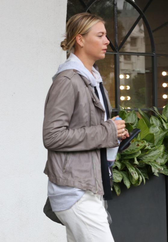 Maria Sharapova - Visits a Hair Salon in Los Angeles 2/7/ 2017