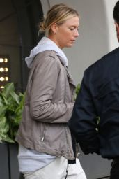 Maria Sharapova - Visits a Hair Salon in Los Angeles 2/7/ 2017