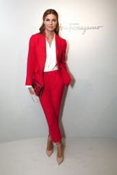 Martina Colombari at Milan Fashion Week- Salvatore Ferragamo Show 2/27/ 2017