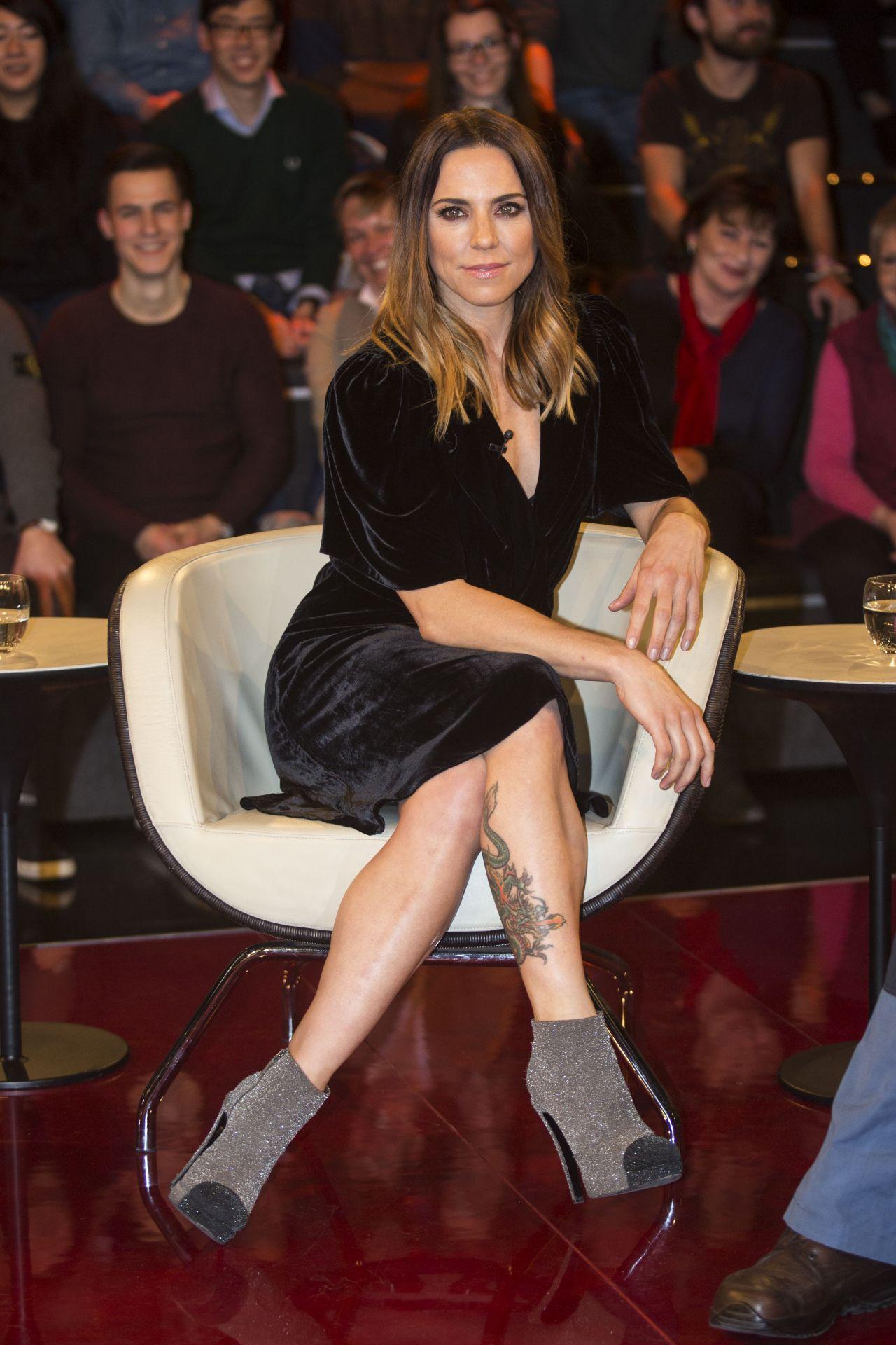 Melanie Chisholm - ZDF Talkshow Markus Lanz in Hamburg, February 2017