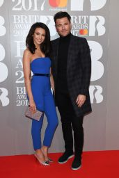 Michelle Keegan on Red Carpet – The Brit Awards at O2 Arena in London 2/22/ 2017