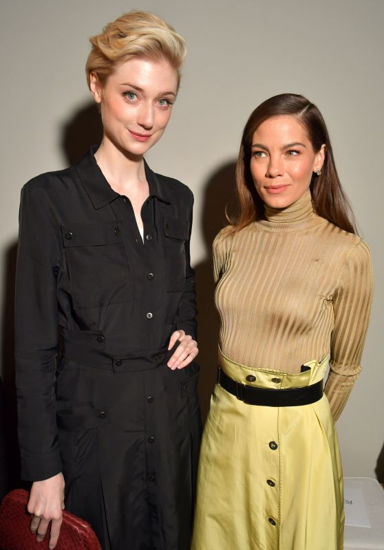 Michelle Monaghan & Elizabeth Debicki - Bottega Veneta Show at Milan Fashion Week 2/25/ 2017