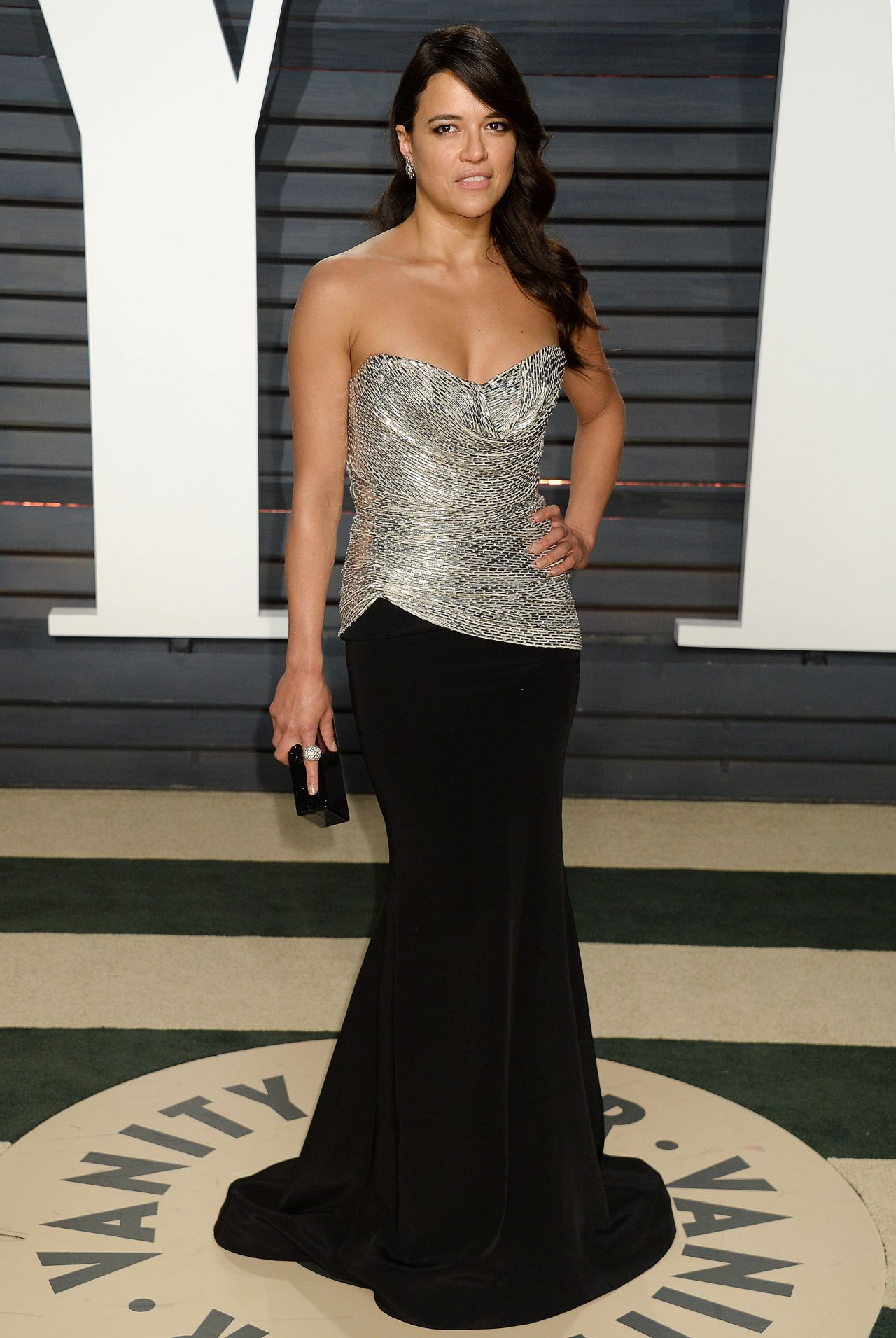 Michelle Rodriguez at Vanity Fair Oscar 2017 Party in Los Angeles