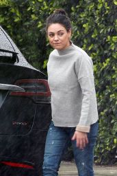 Mila Kunis Street Style - Out in Studio City, CA 2/6/ 2017