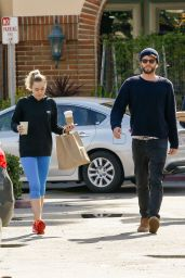 Miley Cyrus and Liam Hemsworth -Exit Ollo Restaurant in Malibu 2/7/ 2017