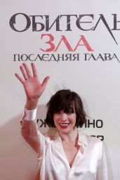 Milla Jovovich - Resident Evil: The Final Chapter Photocall in Moscow 2/14/ 2017