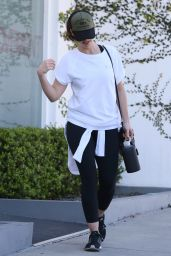 Minka Kelly - Leaving Rise Nation Gym in Los Angeles 2/23/ 2017