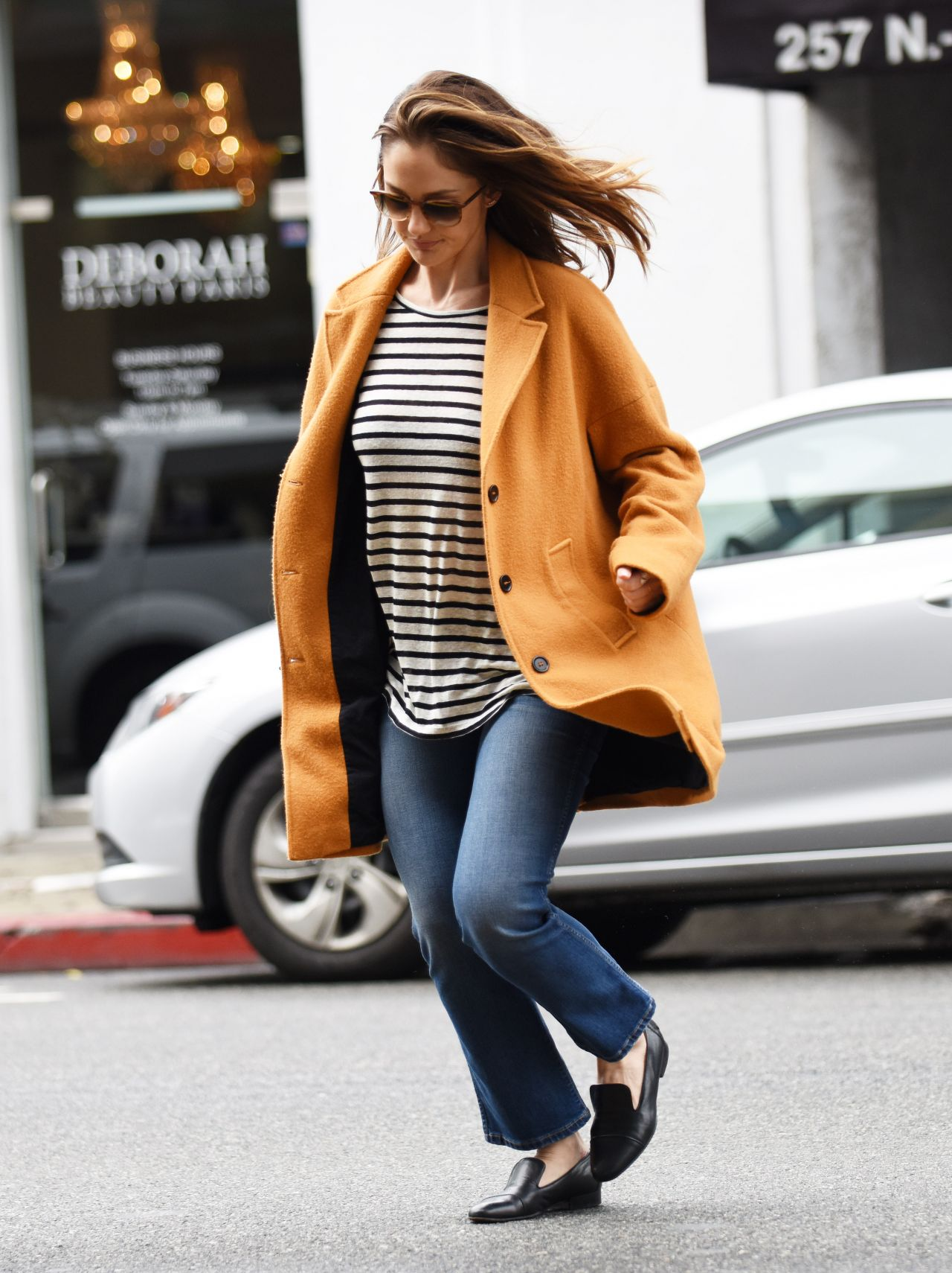 Minka Kelly Street Style - Shopping in Los Angeles 2/21/ 2017