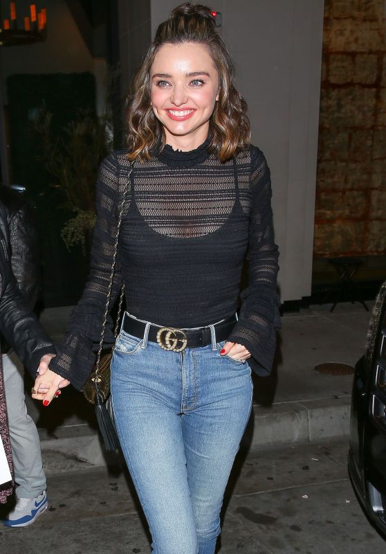 Miranda Kerr in Tight Jeans at Catch in West Hollywood 2/1/ 2017