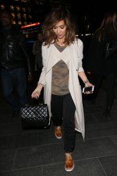 Myleene Klass Style - Exits Global Radio Shoes Mac in London 2/16/ 2017