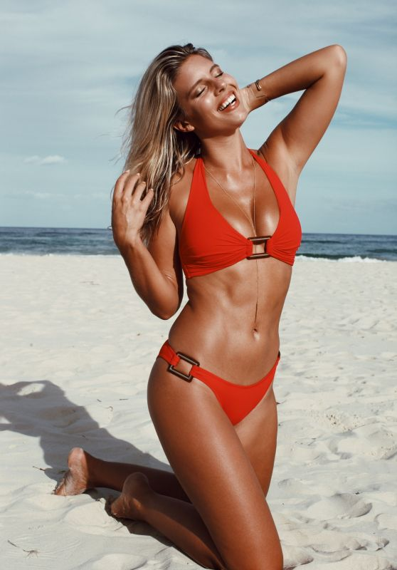 Natasha Oakley in Red Bikini 2/15/ 2017