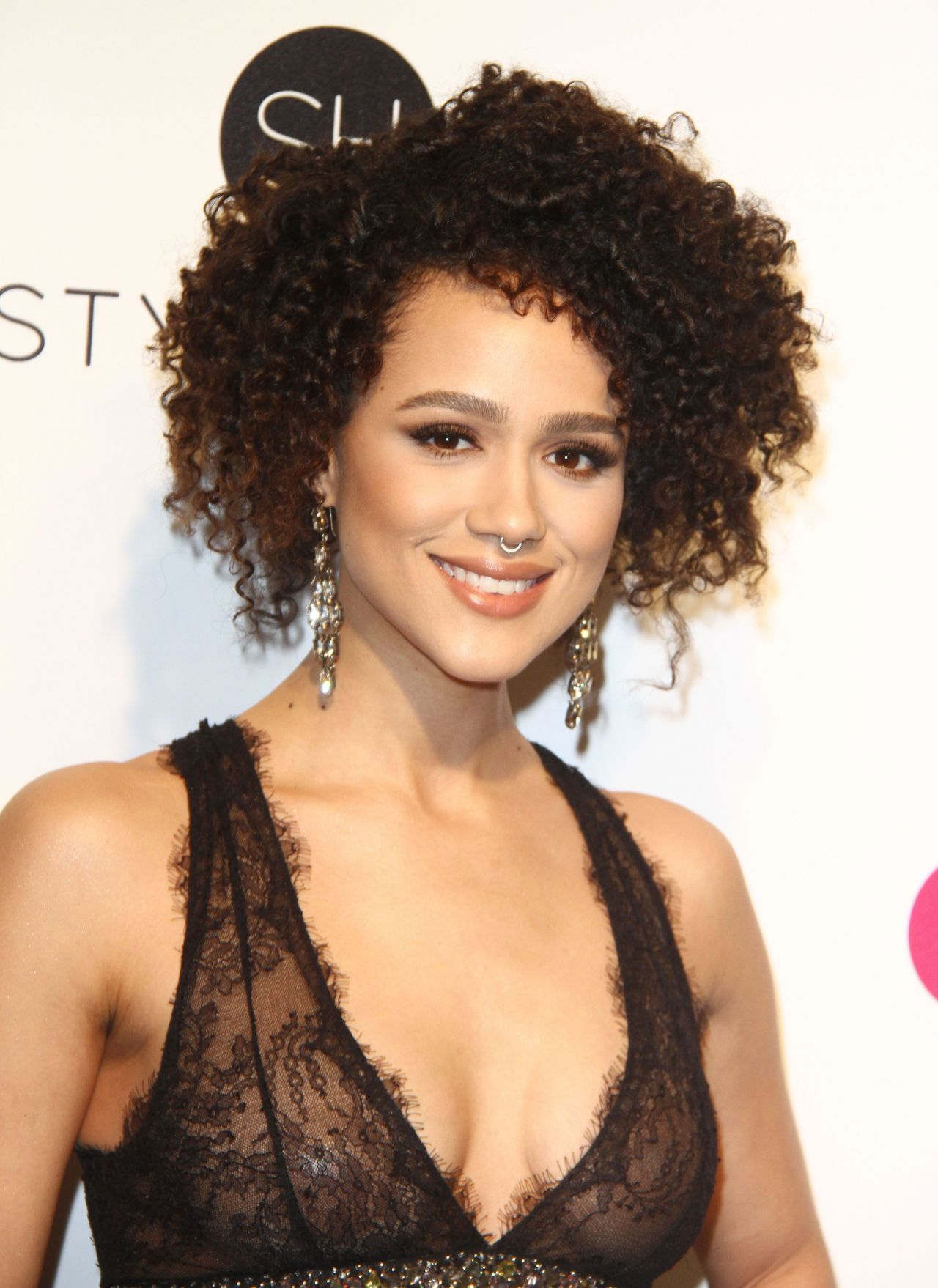 Nathalie Emmanuel at Elton John AIDS Foundation Academy - Game Of Thrones Hairstyles