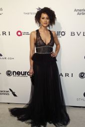 Nathalie Emmanuel at Elton John AIDS Foundation Academy Awards 2017 Viewing Party in LA