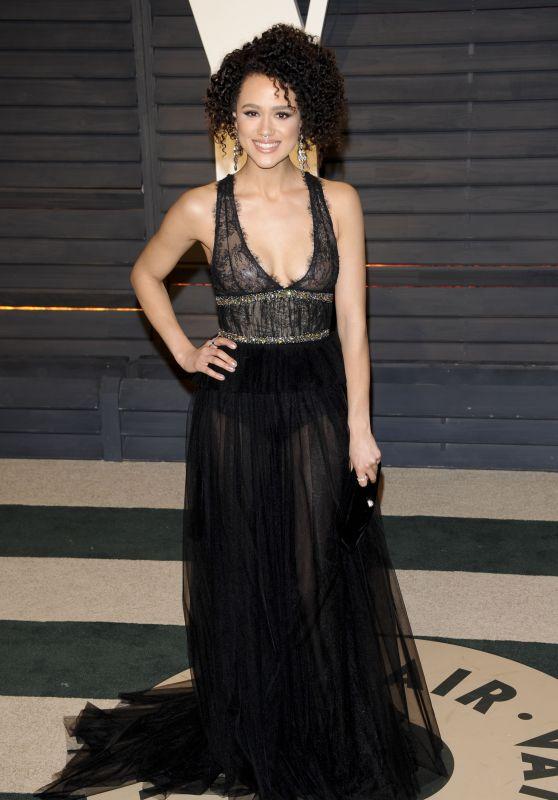Nathalie Emmanuel at Vanity Fair Oscar 2017 Party in Los Angeles