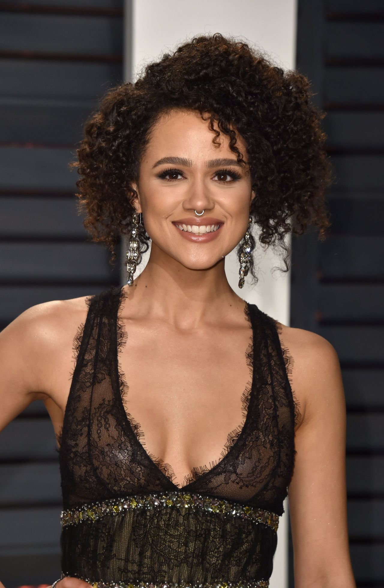Nathalie Emmanuel at Vanity Fair Oscar 2017 Party in Los ...