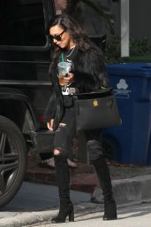 Naya Rivera Street Style - Visiting a Friend in West Hollywood 2/8/ 2017