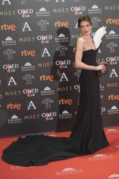 Nieves Álvarez – Goya Cinema Awards at the Marriott Auditorium in Madrid 2/4/ 2017
