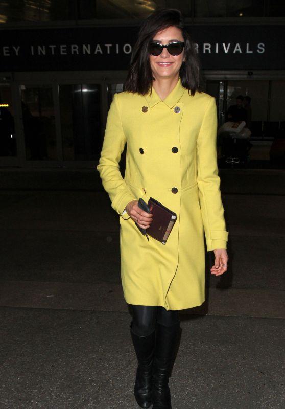 Nina Dobrev at LAX Airport in Los Angeles 2/10/ 2017