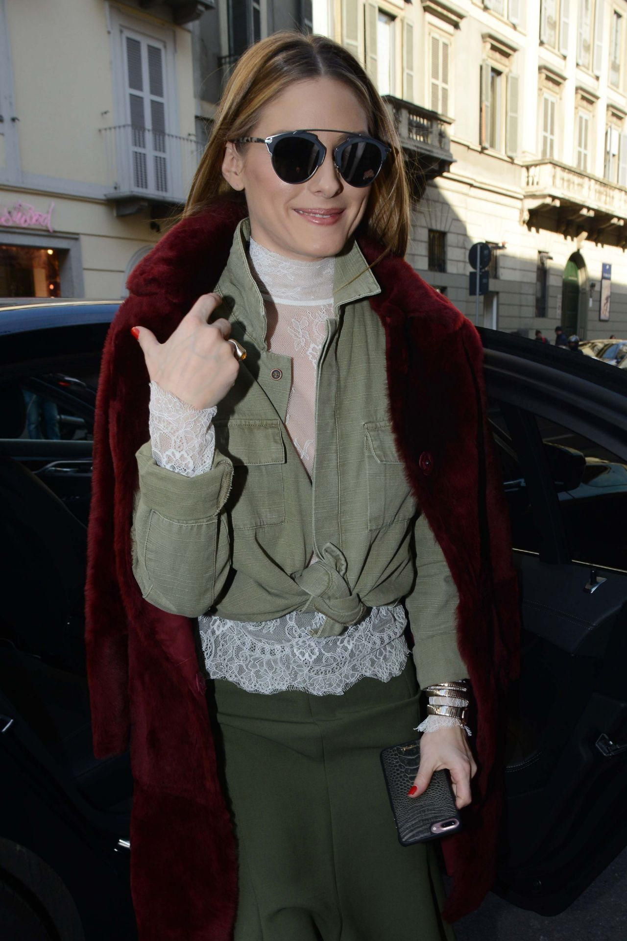 Olivia Palermo - Trussardi Fashion Show Arrivals in Milan, Italy 2/26/ 2017