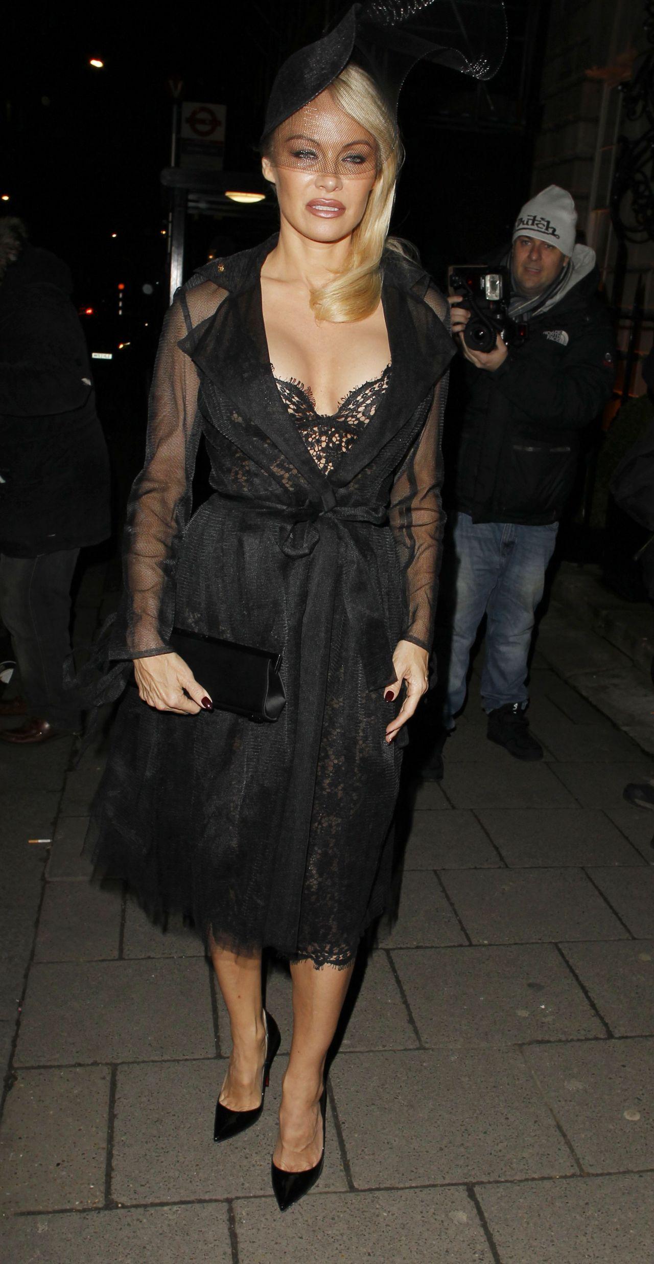 Pamela Anderson - Arriving at Annabells Private Members ... Pamela Anderson