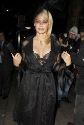 Pamela Anderson - Arriving at Annabells Private Members Club in London 2/7/ 2017