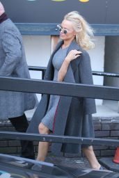 Pamela Anderson - Outside ITV Studios in London 2/13/ 2017