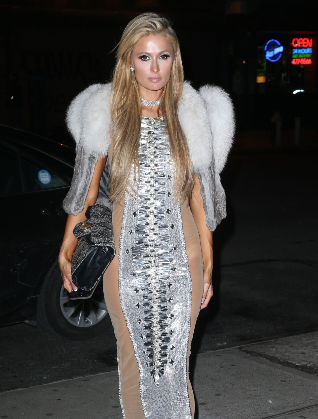 Paris Hilton Night Out In New York City 2 14 2017