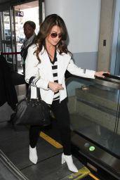 Paula Abdul Travel Outfit - LAX in LA 2/16/ 2017