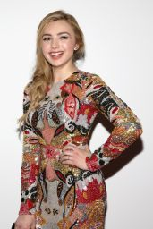 Peyton List - Naeem Khan Collection at New York Fashion Week 2/14/2017