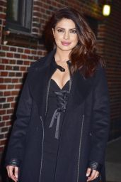 Priyanka Chopra - Arriving to Appear on The Late Show with Stephen Colbert in NYC 2/2/ 2017