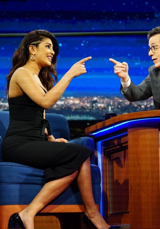 Priyanka Chopra - The Late Show with Stephen Colbert in NYC 2/3/ 2017