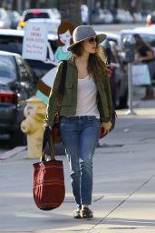 Rachel Bilson Wearing Jeans And Hat - Sherman Oaks, CA 2/9/ 2017