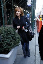 Reba McEntire - Leaves AOL Build Series in New York 2/6/ 2017