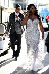 Remy Ma - Looking Gorgeous in White in Los Angeles 2/12/ 2017