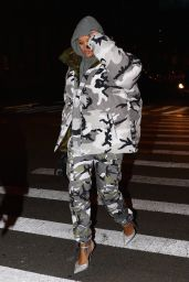 Rihanna Military Style - Out in New York 2/7/ 2017