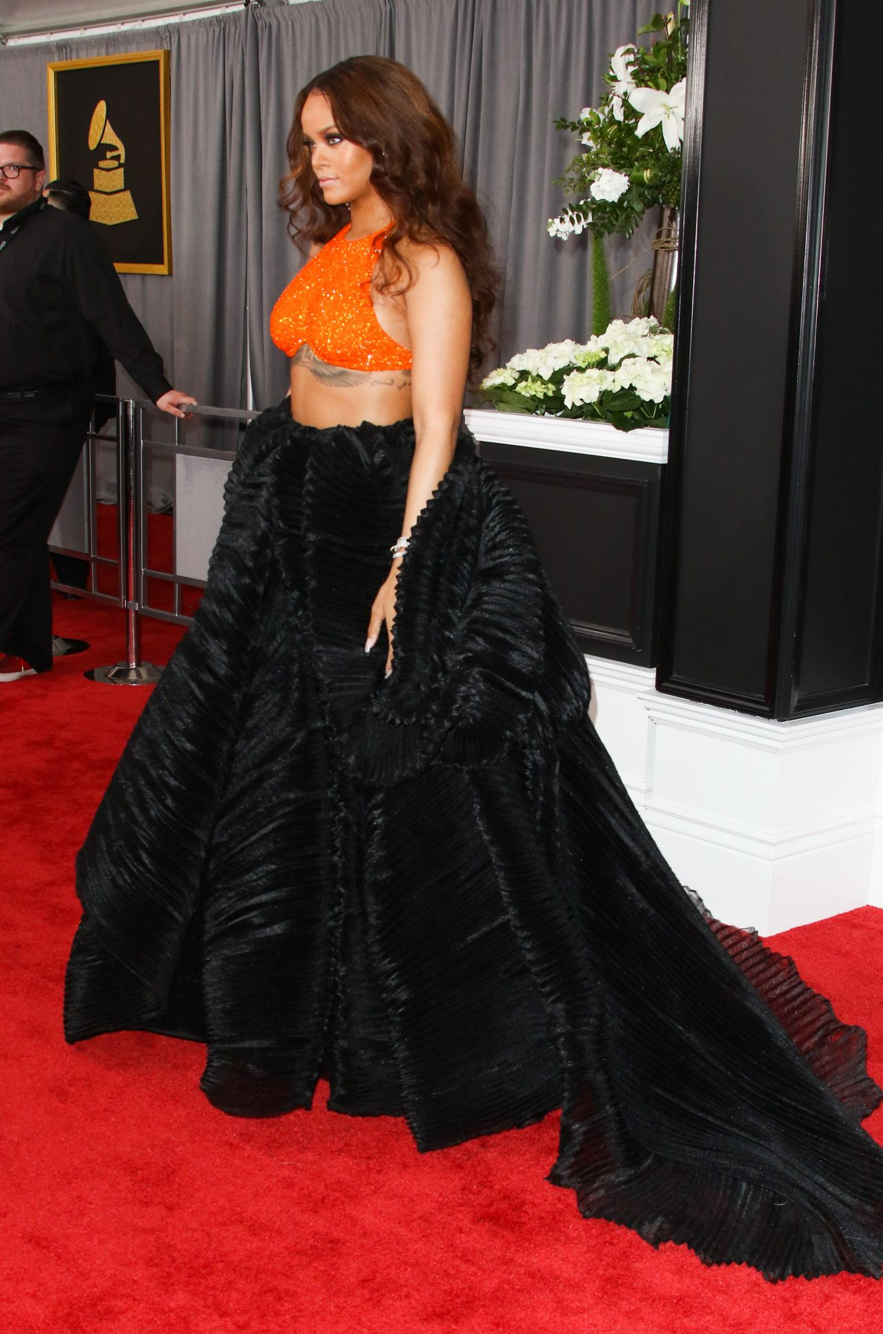 Rihanna On Red Carpet Grammy Awards In Los Angeles 2 12