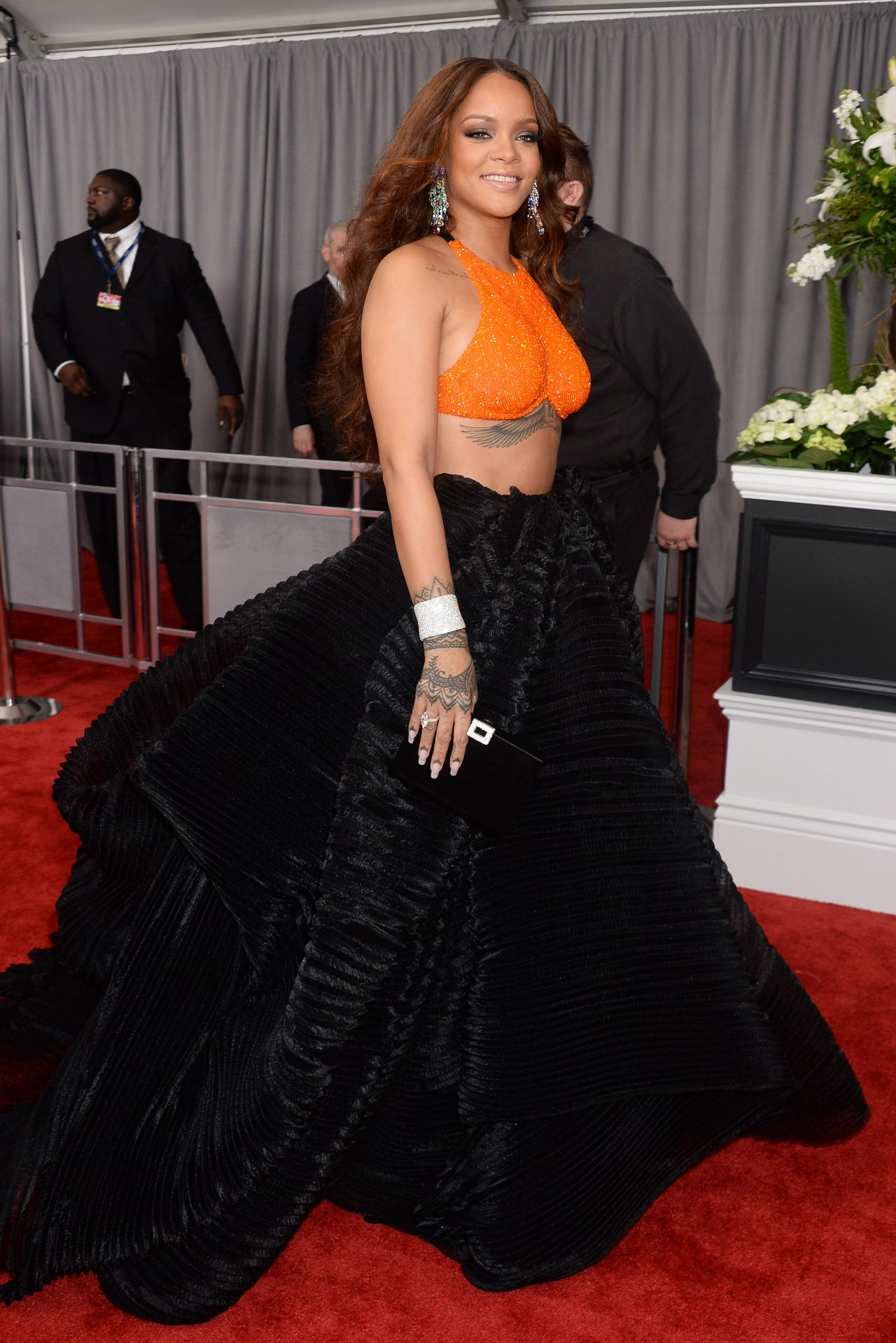 Rihanna on Red Carpet – GRAMMY Awards in Los Angeles 2/12 ...