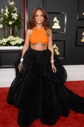 Rihanna on Red Carpet – GRAMMY Awards in Los Angeles 2/12/ 2017