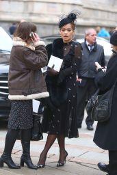 Rita Ora at Memorial Service for Franca Sozzani in Milan 2/27/ 2017