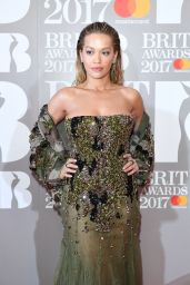 Rita Ora – The Brit Awards at O2 Arena in London 2/22/ 2017